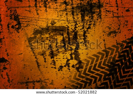 Brown grunge dirty background, scratched surface - stock photo