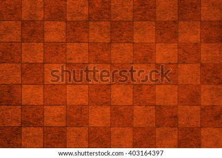 Brown grungy chessboard background with complex texture - stock photo