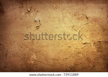 Brown grungy wall  Great textures for your design - stock photo