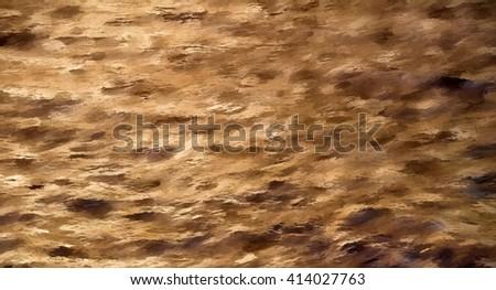brown impasto - illustration based on own photo image - stock photo