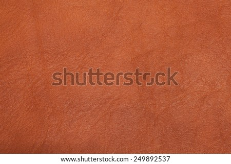 Brown leather texture as vintage background. - stock photo