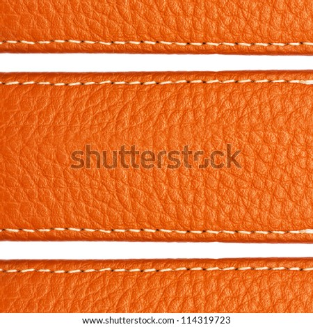 Brown leather texture close up with space for your text. Useful as background or texture for design - stock photo