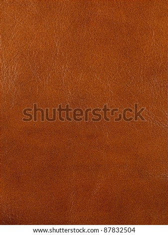 brown leather texture closeup for background and design works - stock photo