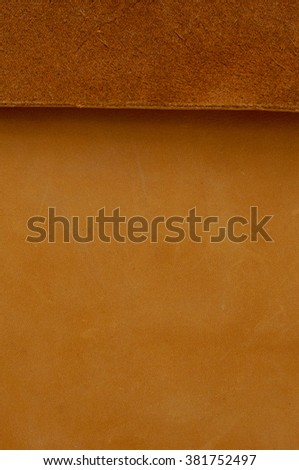Brown leather texture, use for backgrounds and design work - stock photo