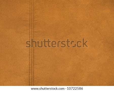 Brown leather textured background - stock photo