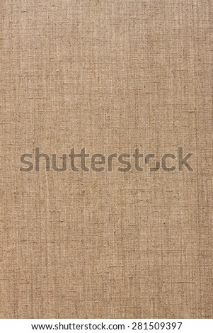 brown  linen canvas texture, pattern - stock photo