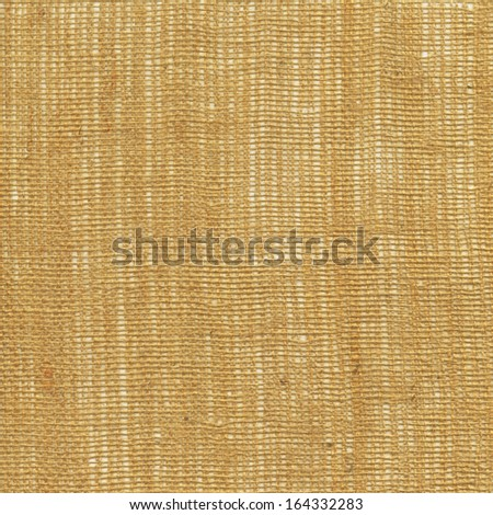 Brown linen texture for background  - stock photo