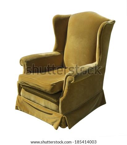 Brown Lounge Chair - stock photo