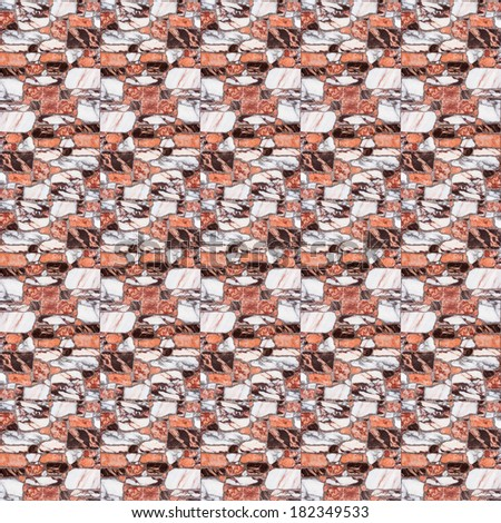 brown marble floor tiles - stock photo