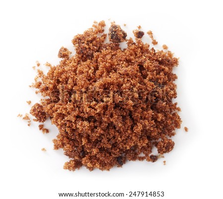 brown muscovado sugar isolated on a white background - stock photo