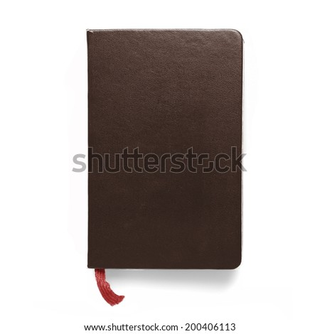 brown notebook - stock photo