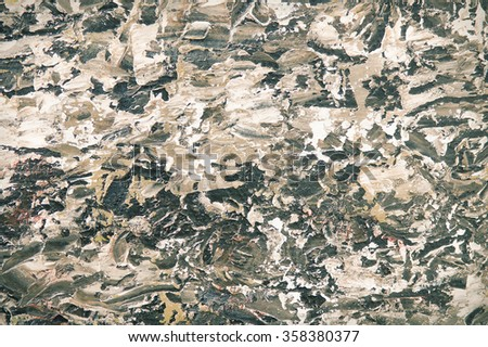 Brown oil painting background. Palette knife texture on canvas. Art concept. - stock photo