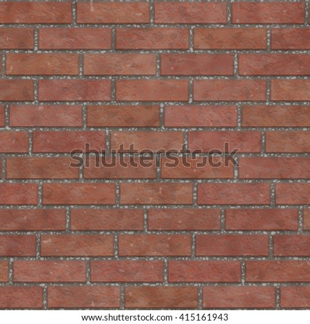 Brown old brick wall texture seamless, abstract background, digital illustration art work. - stock photo