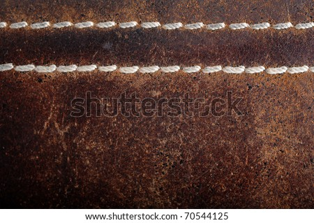 brown old leather - stock photo