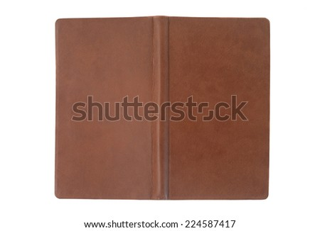 brown open notebook cover - stock photo
