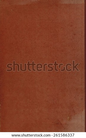 brown or dark red cloth book binding useful as a background  - stock photo