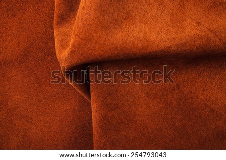 Brown, Orange Leather for Concept and Idea Style of Fine Leather Crafting, Handcrafts, Handmade, handcrafted, leather worker. Background Textured and Wallpaper. Rustic Style. - stock photo
