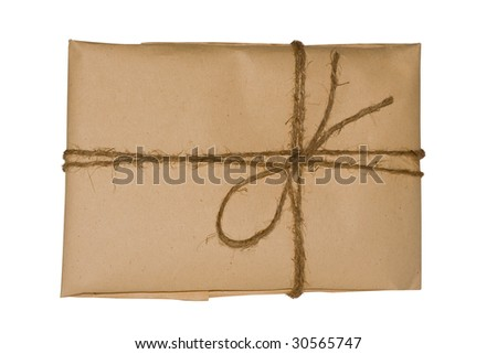 brown package - stock photo