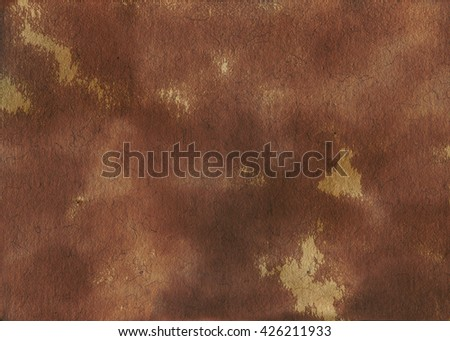 Brown Paper. Old paper sheet. Paper texture. Retro paper background. Watercolor paper. White textured watercolor paper. Grunge paper. Dirty paper. Paper template - stock photo