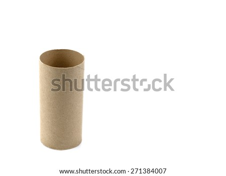 Brown paper roll - stock photo