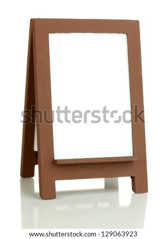 Brown photo frame as easel isolated on white - stock photo