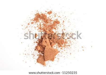 brown powder on the white background - stock photo