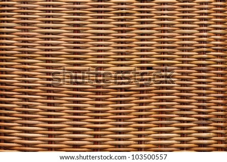 Brown rattan texture background - stock photo