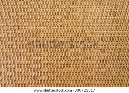 Brown rattan texture for background. - stock photo
