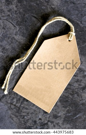 Brown retail pricing tag. - stock photo