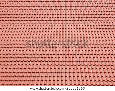 brown roof tile background - stock photo