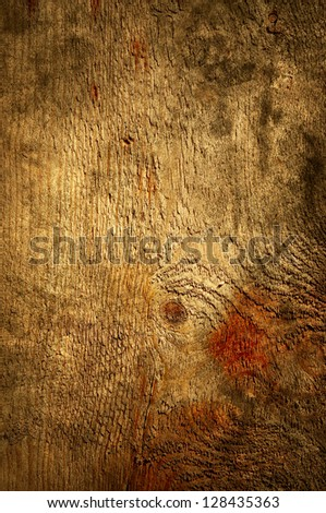 Brown rustic wood grain texture as background - stock photo