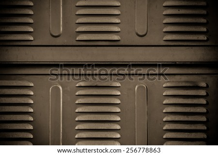 Brown steel background. - stock photo