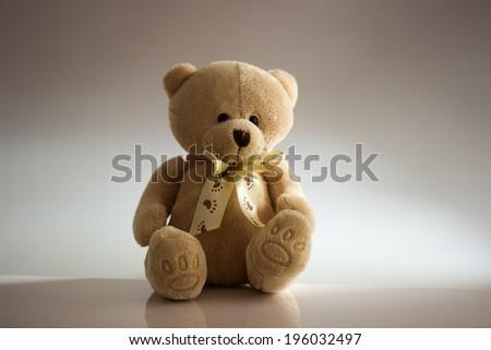 brown teddy bear - stock photo
