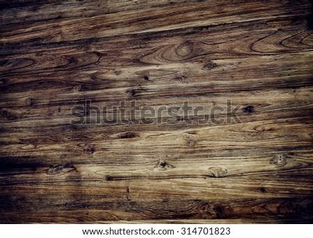Brown Textured Varnished Wooden Floor Concept - stock photo