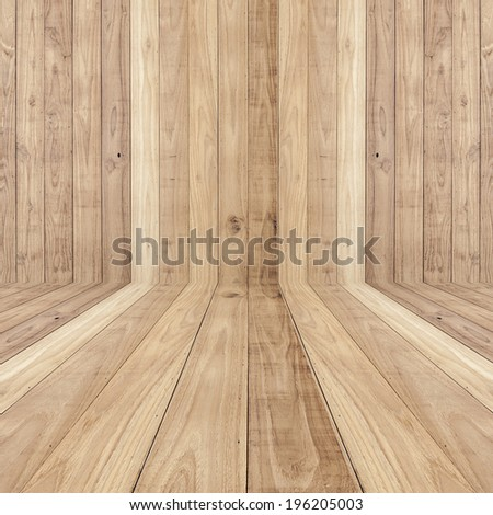 Brown thin wood plank floor texture background - stock photo