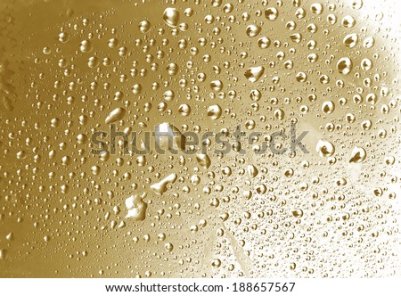 brown tones water drops texture - stock photo
