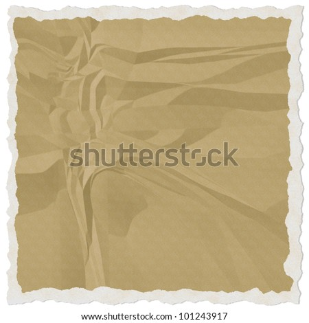 brown torn paper isolate on white background - stock photo