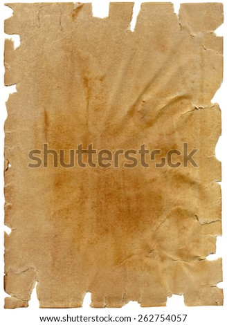 Brown torn paper texture - stock photo