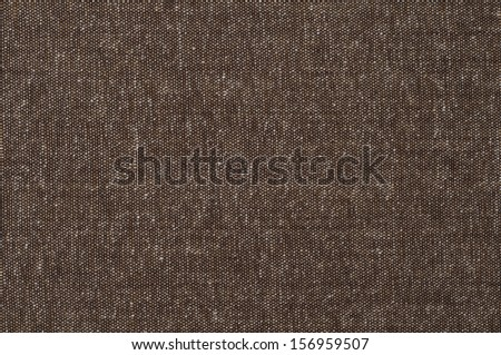 Brown Tweed Fabric Background, closeup horizontal or vertical - stock photo