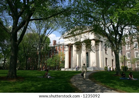 Brown University campus, Providence, Rhode Island - stock photo