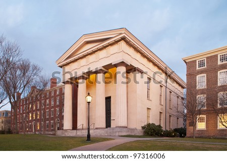 Brown University Ivy League College Campus located in Providence, Rhode Island - stock photo