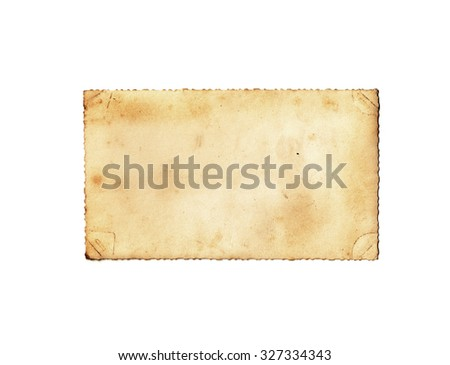 Brown vintage paper isolated. Vintage paper background - stock photo