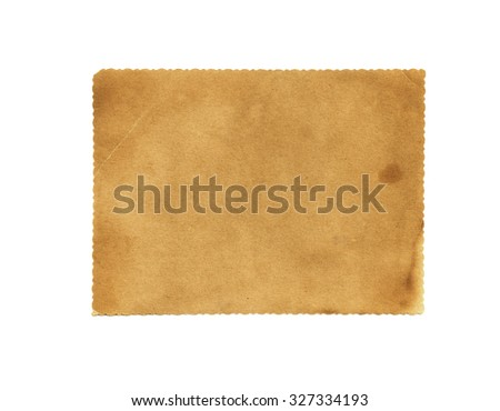Brown vintage paper isolated. Vintage paper background. Paper texture - stock photo