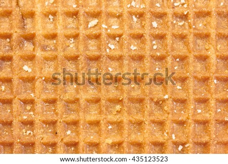 brown waffle texture pattern, holland waffle - stock photo