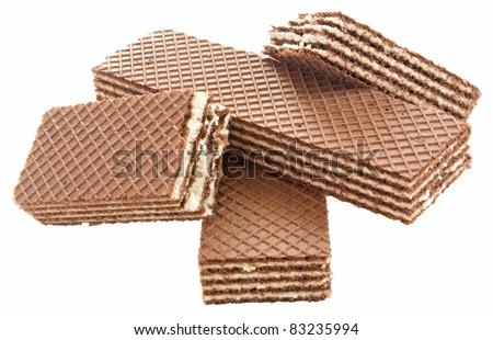 Brown waffles - stock photo