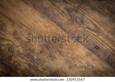 Brown wood diagonal texture. Abstract background, empty template - stock photo