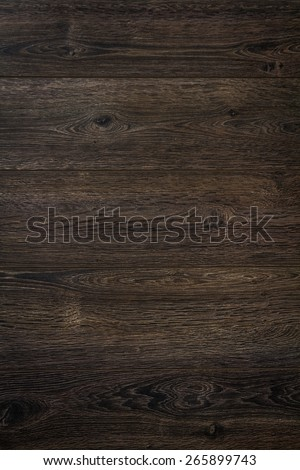 Brown wood plank texture and background, top view - stock photo
