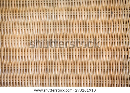 Brown woven rattan texture background - stock photo
