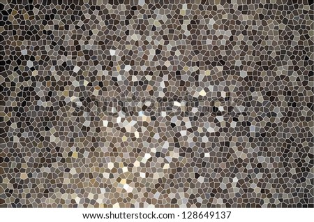 Brown yellow gray color gradient stained glass or tile surface pattern - stock photo