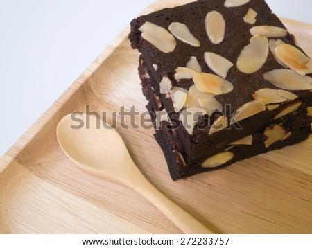 brownie chocolate  - stock photo